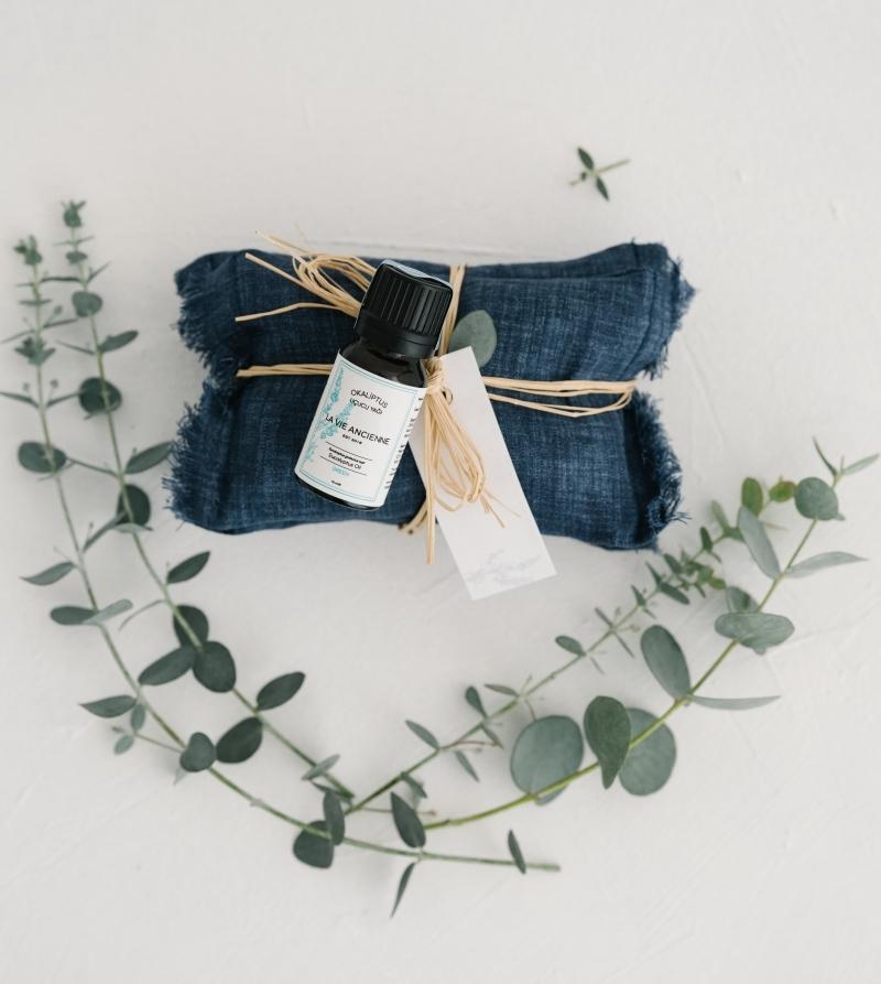 Okaliptus Yağlı Kokulu Keten Yastık