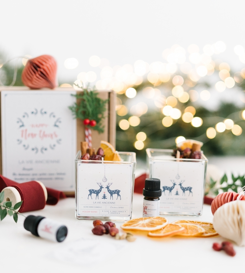 Christmas Candle Box